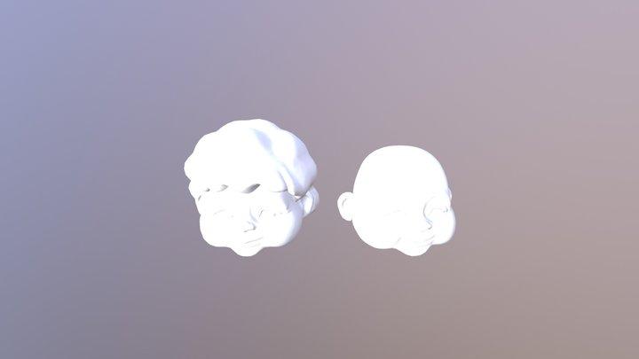 Grandmother Head Model 3D Model