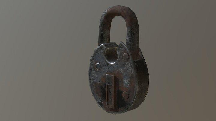 rusty lock FREE 3D Model