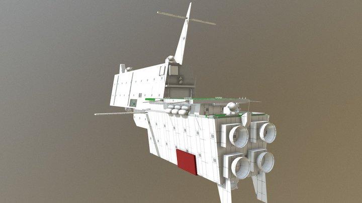 連合艦隊航空巡洋艦〈ちよだ〉 3D Model