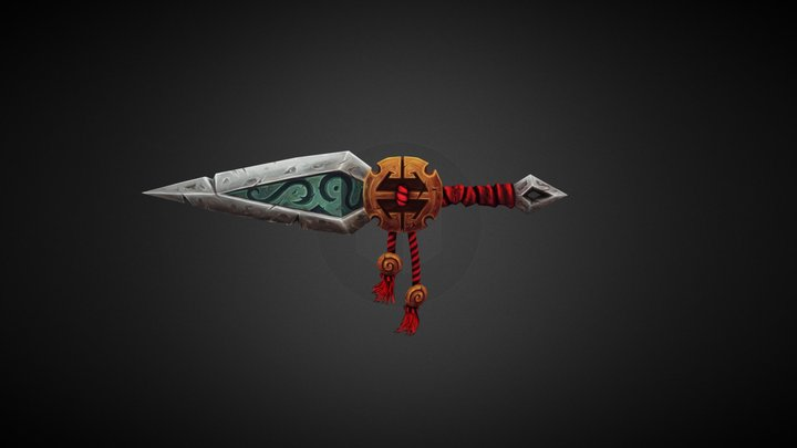 Dagger (Handpainted Challenge Submission) 3D Model