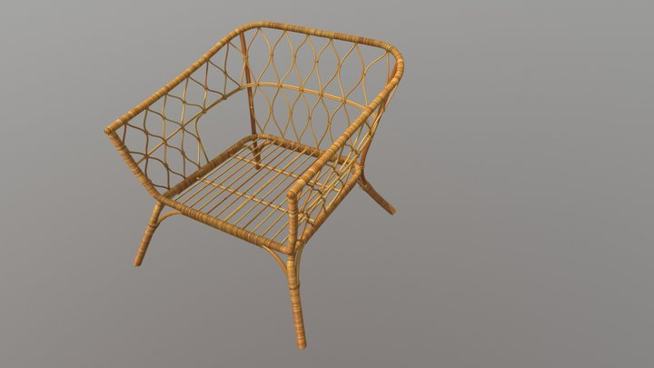 Rattan Amchair 3D Model