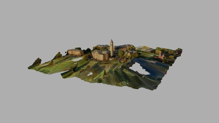 McGraw Clocktower Cornell University 3D Model