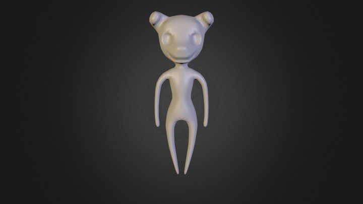 Creepy Pup Doll 3D Model