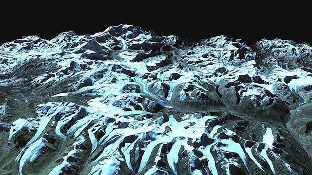 nepal-sikkim in 2007 3D Model