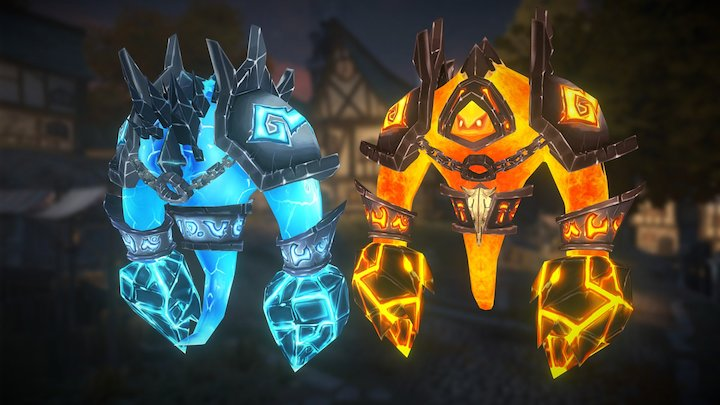 Fire and Ice Elemental 3D Model
