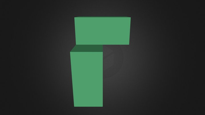 Green puzzle cube piece 3D Model