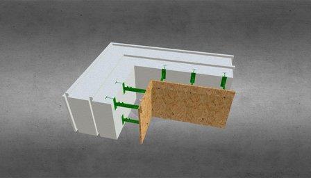 Угловой комблок 300 с опалубкой 3D Model