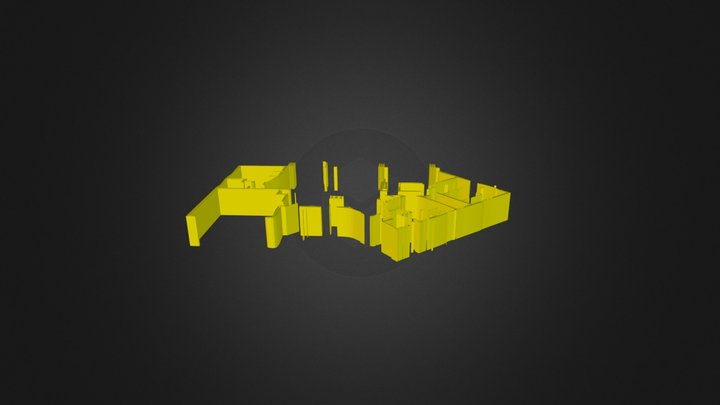 Poet Cad Render Wall layer1 Ammo House 3D Model