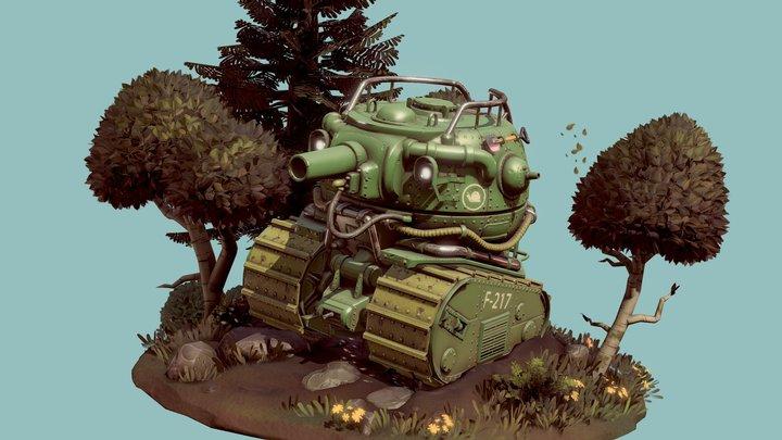T-Pot Tank 3D Model