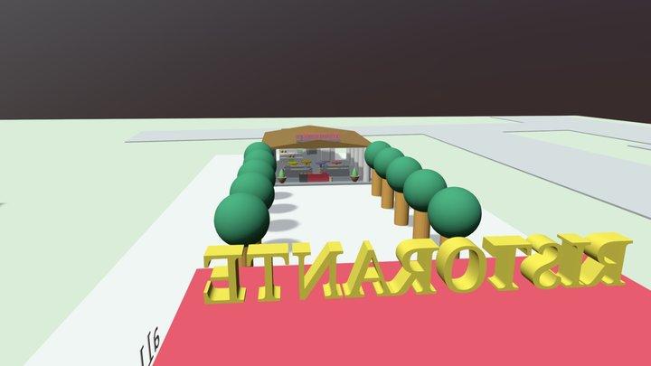 Zona RISTORANTE E SCUOLA - Scuola G. Marconi 3D Model