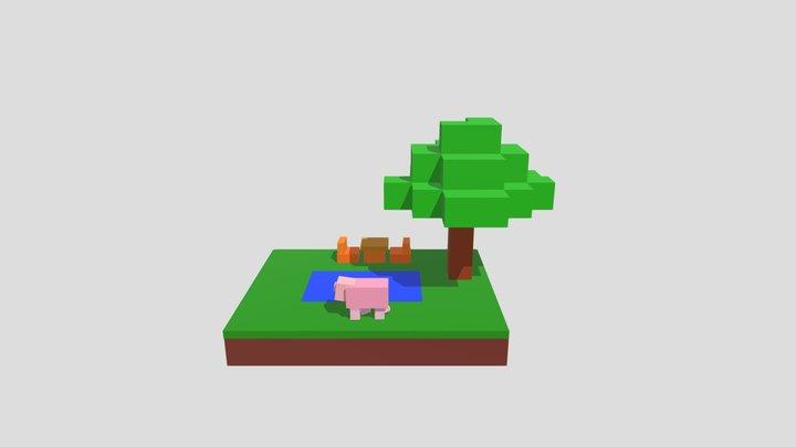 Minecraft Scene 3D Model