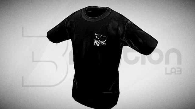 3D Motion T-shirt 3D Model