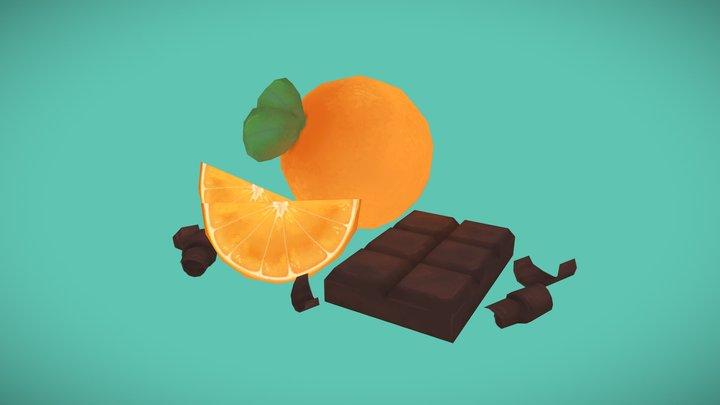 Chocolate Orange 3D Model