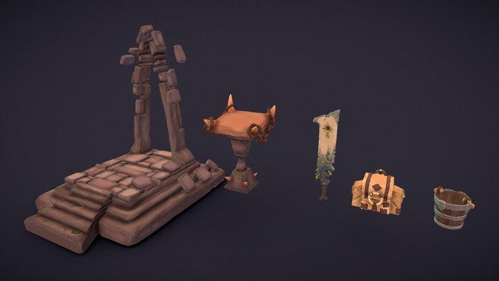 Rocky Dooky Scene Assets 3D Model