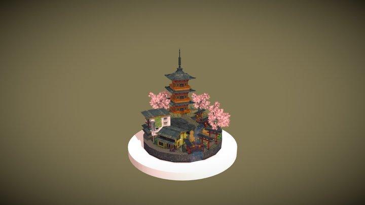 City Scene 2020 Kyoto Countryside 3D Model