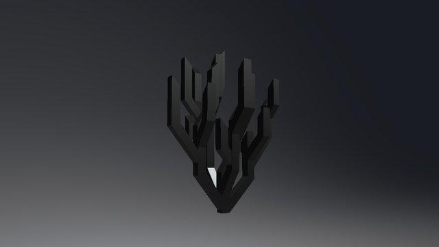 Arbres Embranchements Bambou 2 3D Model