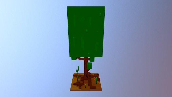 Square Voxel Tree 01 3D Model