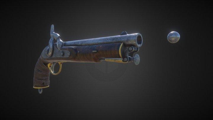 Indian Pistol 3D Model