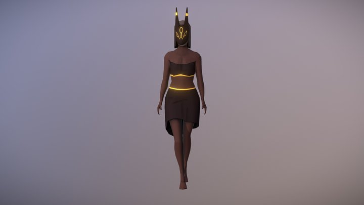 Umbreon Girl 3D Model