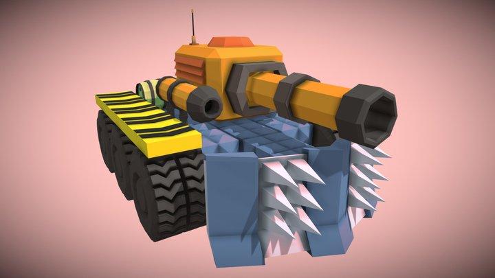 Lowpoly modular tank 3D Model