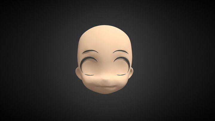 CHIBI HEAD BASE MESH 3D Model
