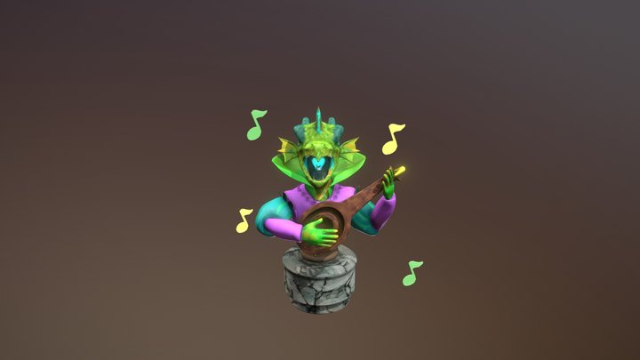 Dragon Bard 3D Model