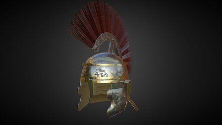 Fantasy Helm 3D Model
