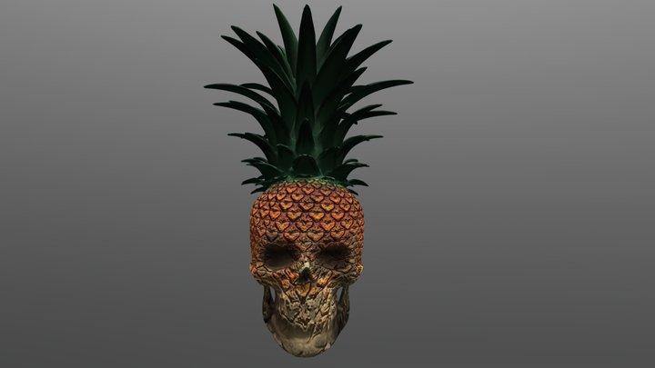Skull-pineapple 3D Model