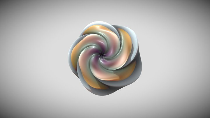 Flower Sphere Tesselation 3D Model