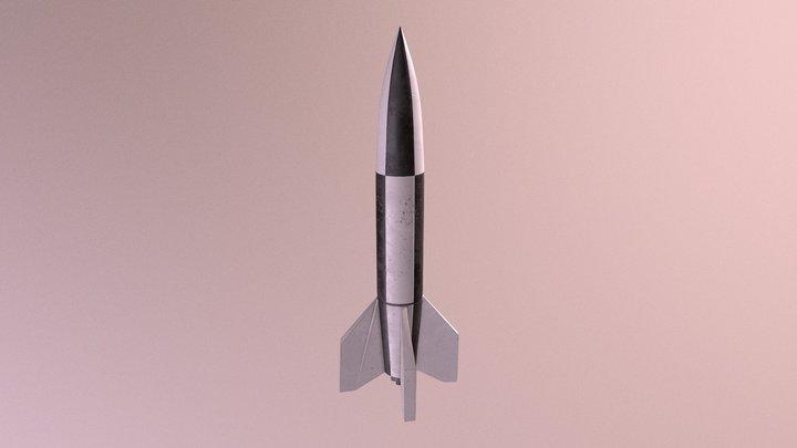 V-2 Rocket 3D Model