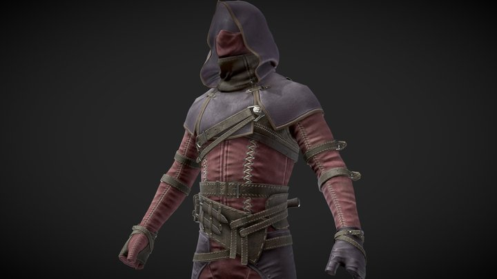 Shrouded Armor set - Dark Brotherhood 3D Model