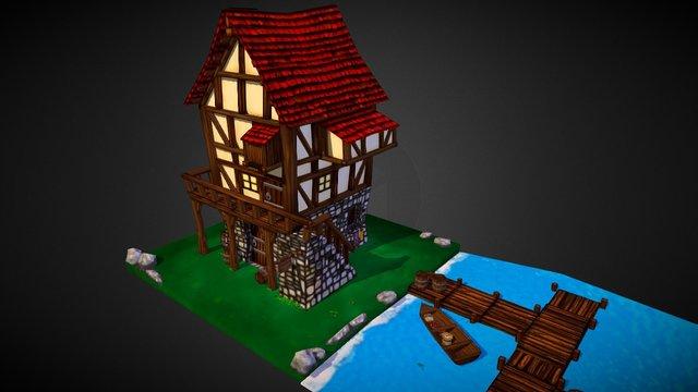 Fisherman's Medieval House 3D Model