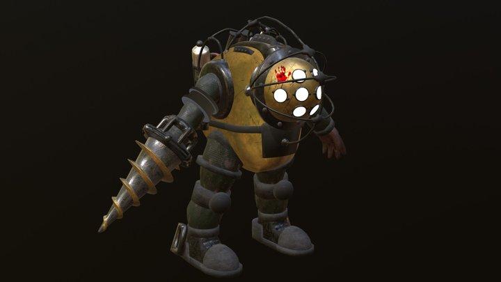 Tin Daddy (Bioshock Inspired) 3D Model