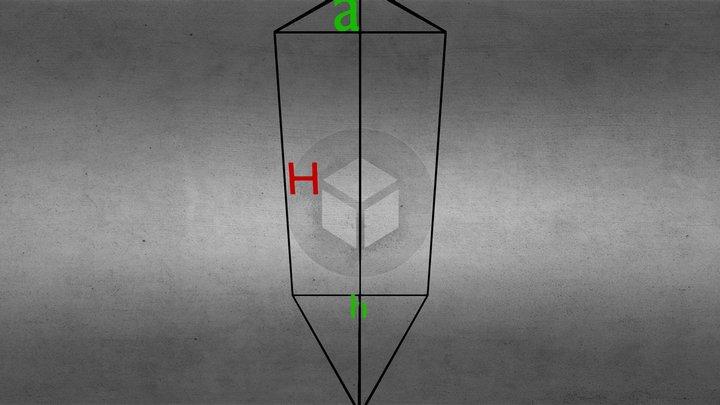 Trijstura Prizma 3D Model