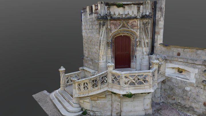 Perron - Château du parc zoologique de Clères 3D Model
