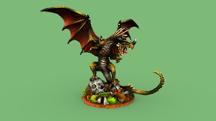 Dragon Miniature - Warhammer 3D Model