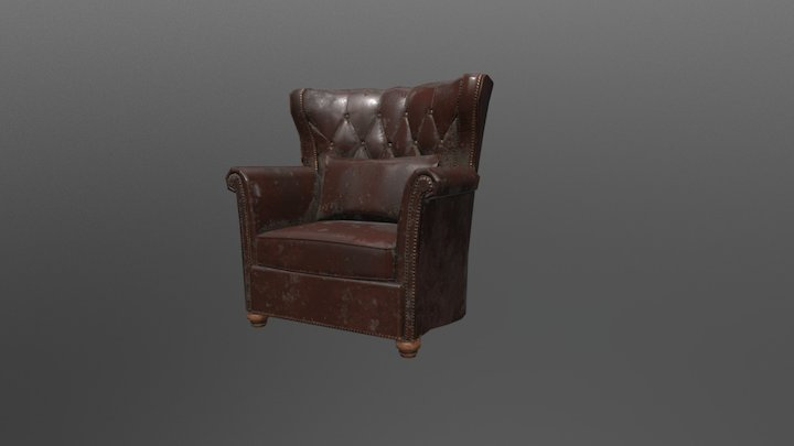 Old Comfy Chair 3D Model