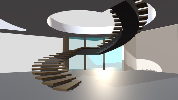 Doumani Interior Curved Stair 3D Model