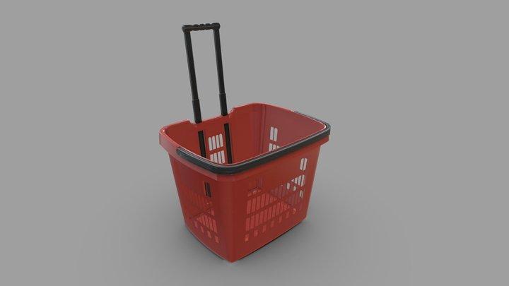 Red Basket 3D Model