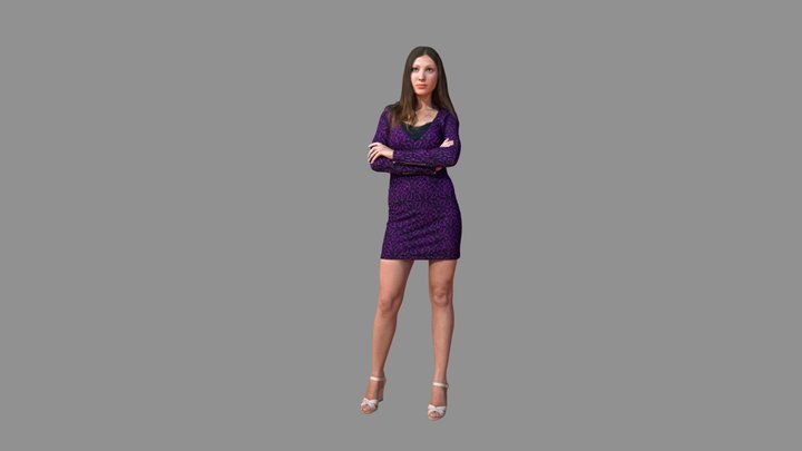 City Woman Casual Dress 3D Model