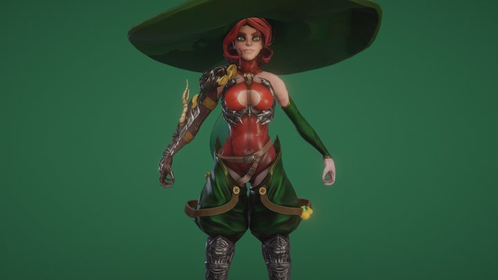 FREE Witch 3D Model