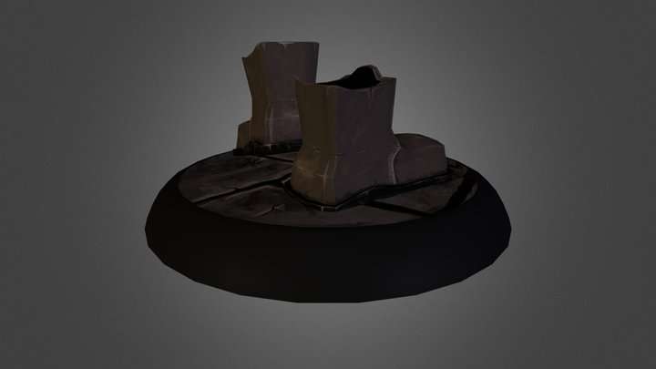 Styalised boots_2 3D Model