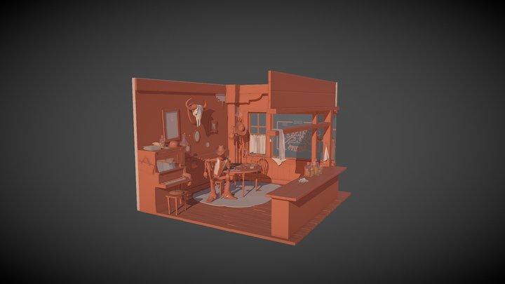 Slab, the gunslinger 3D Model
