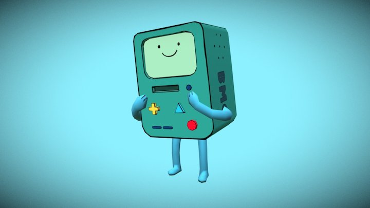 BMO ( Adventure Times)  Low Poly 3D Model