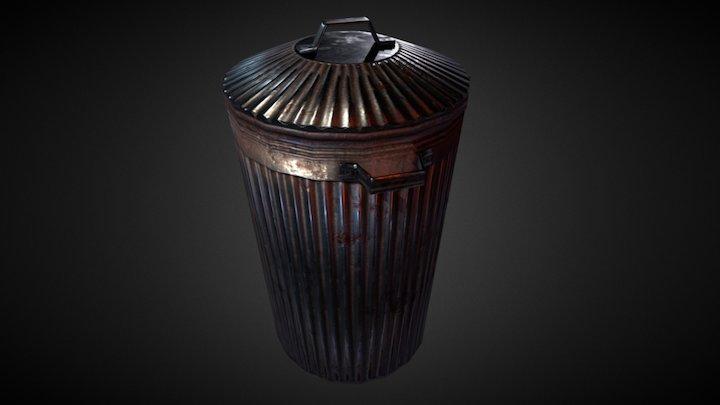 Old trashcan 3D Model