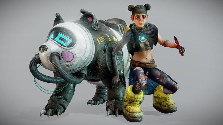 Mina and Bon.Bon 3D Model