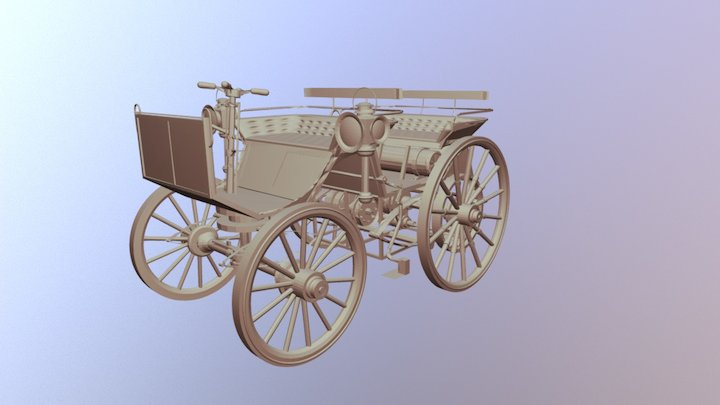 Daimler Benz Wagon 1886 3D Model
