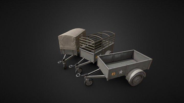 "Bantam T6 Trailer ""Ben-Hur"" 3D Model"