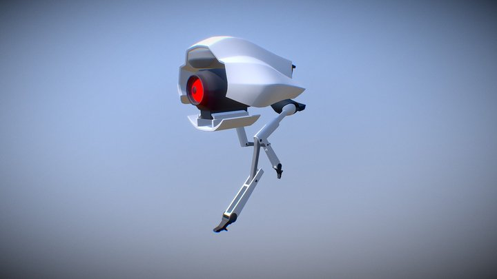 Little Legged Drone 3D Model