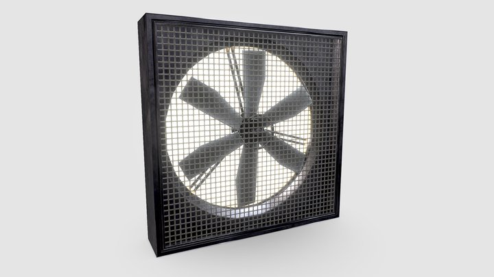 Industrial Warehouse Fan 3D Model